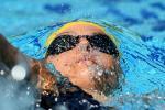 Australian Ellie Cole swimming backstroke