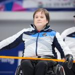 female wheelchair curler Aileen Neilson