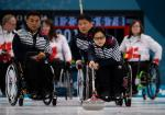 female wheelchair curler Min-Ja Bang