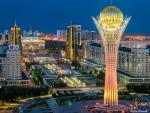 a night time view of Astana