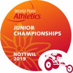 the official logo of the Nottwil 2019 World Para Athletics Junior Championships