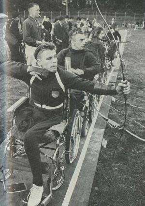 Athletes in the Paralympic Games in Tokyo 1964