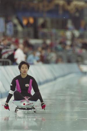 Athlete in a sporting event Lillehammer 1994