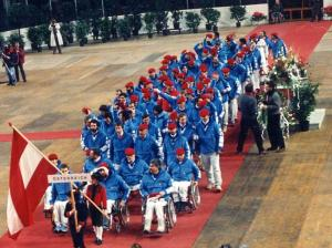 Austrian team at the Opening Ceremony of Innsbruck 1988