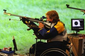 Athlete practicing Shooting