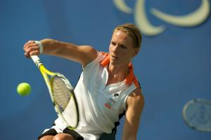 Esther Vergeer in action at the Beijing 2008 Paralympic Games