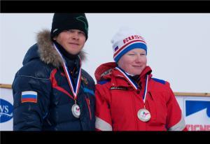 Russia's Aleksandra Frantceva and Guide Pavel Zabotin
