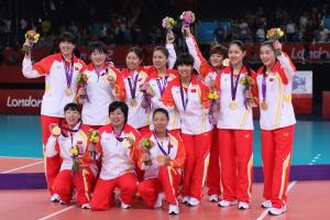 China women's sitting volleyball - Paralympic Athlete of the Month July 2010