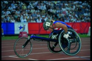 Athlete in Paralympic Games Atlanta 1996.
