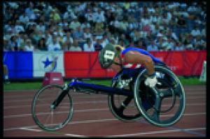 Athlete in Paralympic Games Atlanta 1996.