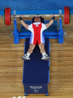 Athlete in Powerlifting competition Beijing 2008