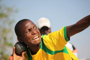 Athlete training during the IPC development camp in Zambia.