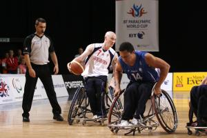 Great Britain's Terry Bywater in action at the 2011 BT Paralympic World Cup