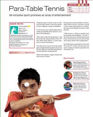 Para-Table Tennis in Paralympian