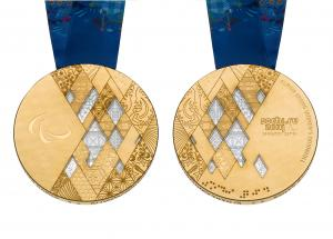 Sochi 2014 gold medal front and back