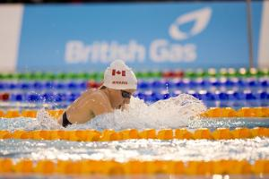 Woman doing breaststroke