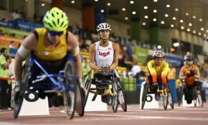 Hannah McFadden at the 2015 IPC Athletics World Championships, Doha
