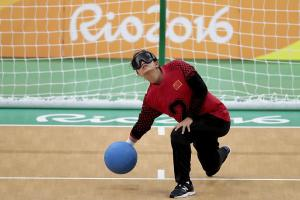Goalball sports icon - horizontal