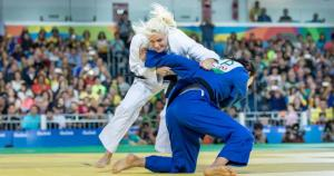 Judo sports icon - horizontal