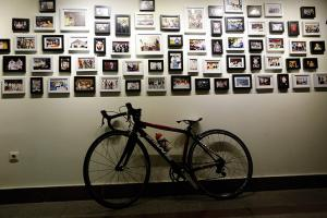 Photo exhibition in memory of Para cyclist Bahman Golbarnezhad.