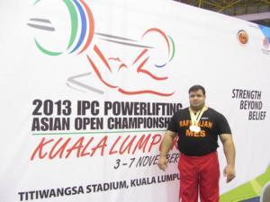 Mansour Pourmirzaei - Paralympic Athlete of the Month November 2013