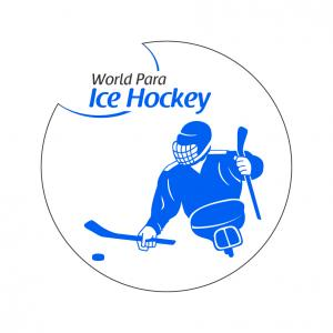 The official logo of World Para ice hockey