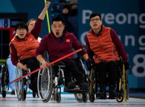 Chinese wheelchair curling team - Paralympic Athlete of the Month March 2018