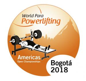 the official logo of the Bogota 2018 World Para Powerlifting Americas Championships