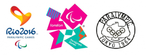 Rio 2016, London 2012 and Tokyo 1964 Paralympic Games Official Posters